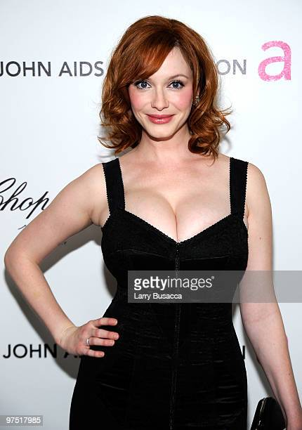 Actress Christina Hendricks attends the 18th Annual Elton John AIDS Foundation Academy Award Party at Pacific Design Center on March 7 2010 in West...
