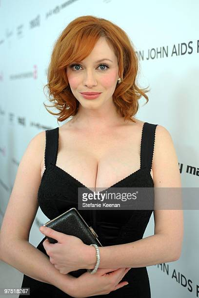 Actress Christina Hendricks attends the 18th Annual Elton John AIDS Foundation Oscar Party at Pacific Design Center on March 7 2010 in West Hollywood...