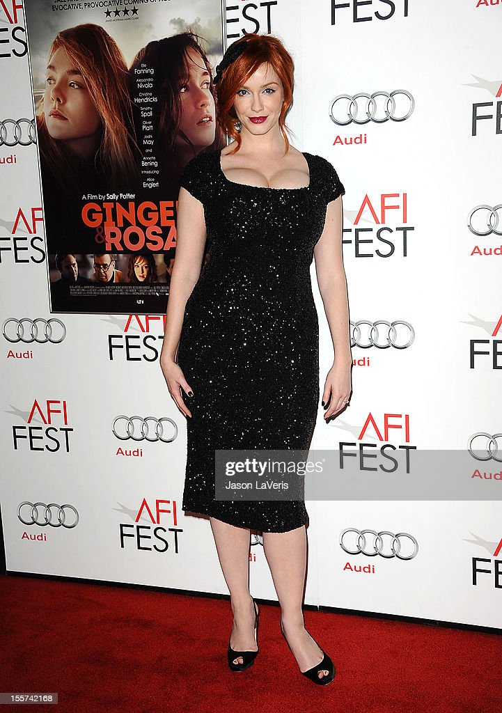 Actress Christina Hendricks attends the 2012 AFI Fest premiere of 'Ginger & Rosa' at Grauman's Chinese Theatre on November 7, 2012 in Hollywood, California.