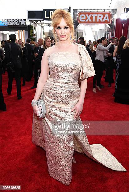 Actress Christina Hendricks attends The 22nd Annual Screen Actors Guild Awards at The Shrine Auditorium on January 30 2016 in Los Angeles California...