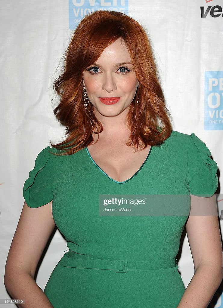 Actress Christina Hendricks attends the 41st annual Peace Over Violence Humanitarian Awards at Beverly Hills Hotel on October 26, 2012 in Beverly Hills, California.