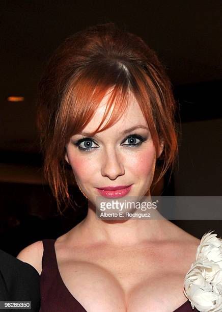 Actress Christina Hendricks attends the 62nd Annual Directors Guild Of America Awards cocktail reception held at the Hyatt Regency Century Plaza on...