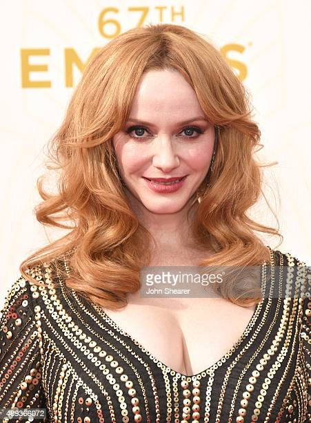Actress Christina Hendricks attends the 67th Annual Primetime Emmy Awards at Microsoft Theater on September 20 2015 in Los Angeles California
