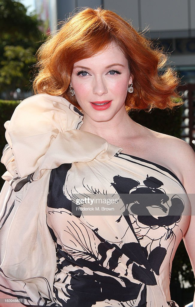 Actress Christina Hendricks attends The Academy Of Television Arts & Sciences 2012 Creative Arts Emmy Awards at the Nokia Theatre L.A. Live on September 15, 2012 in Los Angeles, California.