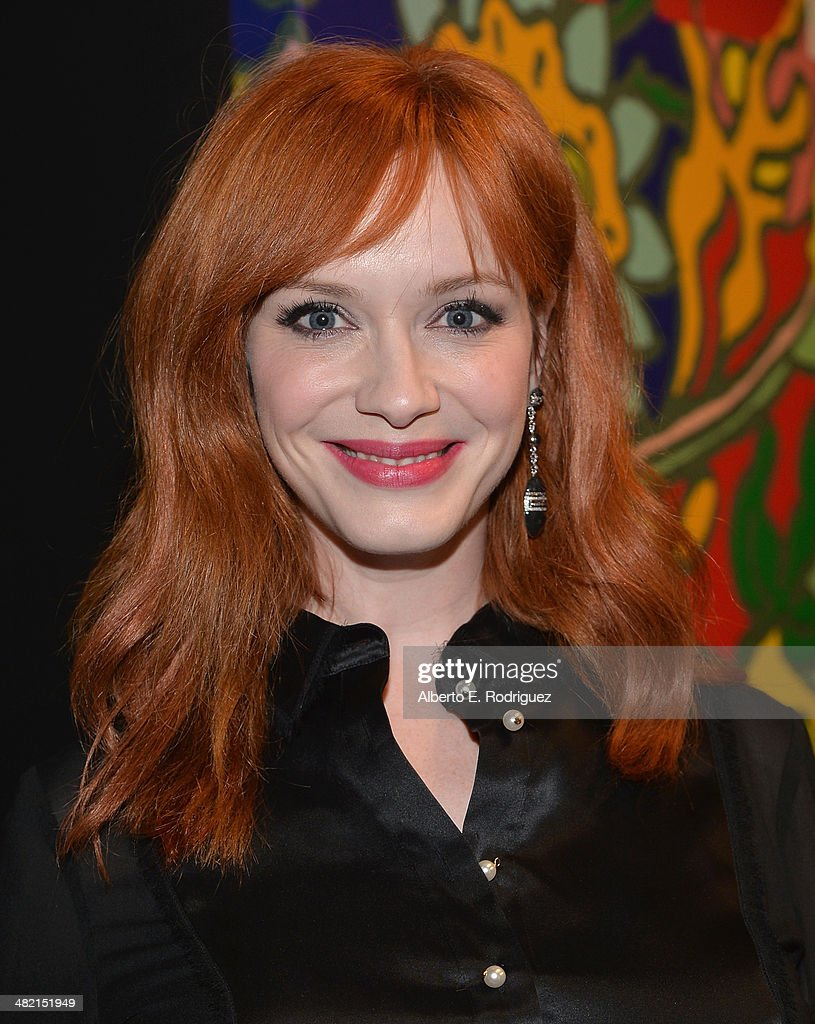 Actress <a gi-track='captionPersonalityLinkClicked' href=/galleries/search?phrase=Christina+Hendricks&family=editorial&specificpeople=2239736 ng-click='$event.stopPropagation()'>Christina Hendricks</a> attends the AMC celebration of the 'Mad Men' season 7 premiere at ArcLight Cinemas on April 2, 2014 in Hollywood, California.