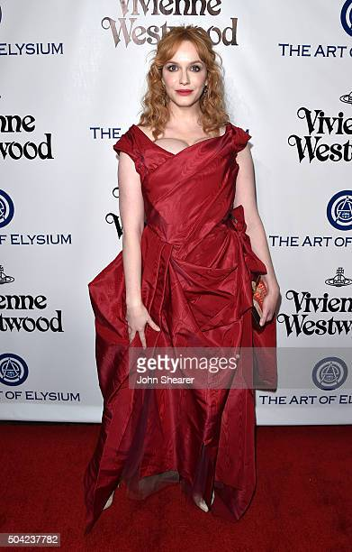 Actress Christina Hendricks attends The Art of Elysium 2016 HEAVEN Gala presented by Vivienne Westwood Andreas Kronthaler at 3LABS on January 9 2016...