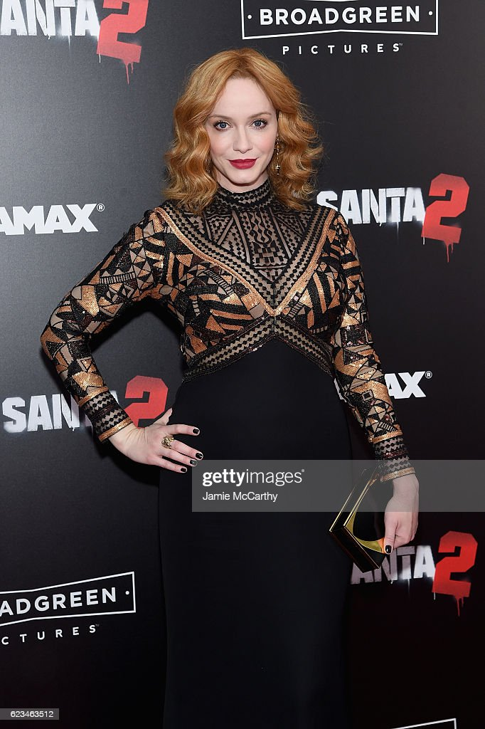 Actress Christina Hendricks attends the 'Bad Santa 2' New York Premiere at AMC Loews Lincoln Square 13 theater on November 15, 2016 in New York City.