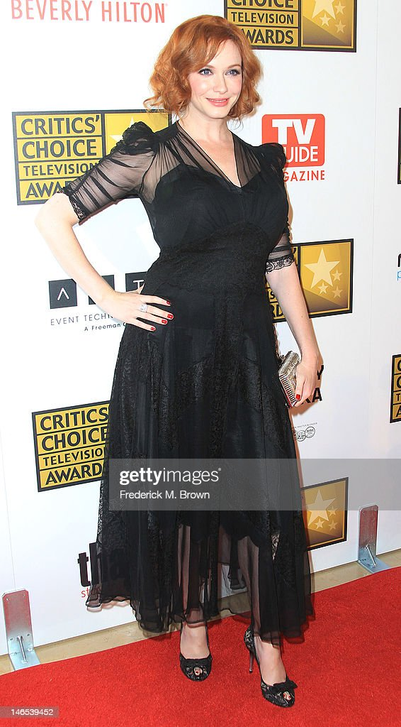 Actress <a gi-track='captionPersonalityLinkClicked' href=/galleries/search?phrase=Christina+Hendricks&family=editorial&specificpeople=2239736 ng-click='$event.stopPropagation()'>Christina Hendricks</a> attends the Broadcast Television Journalists Association Second Annual Critics' Choice Awards at The Beverly Hilton Hotel on June 18, 2012 in Beverly Hills, California.
