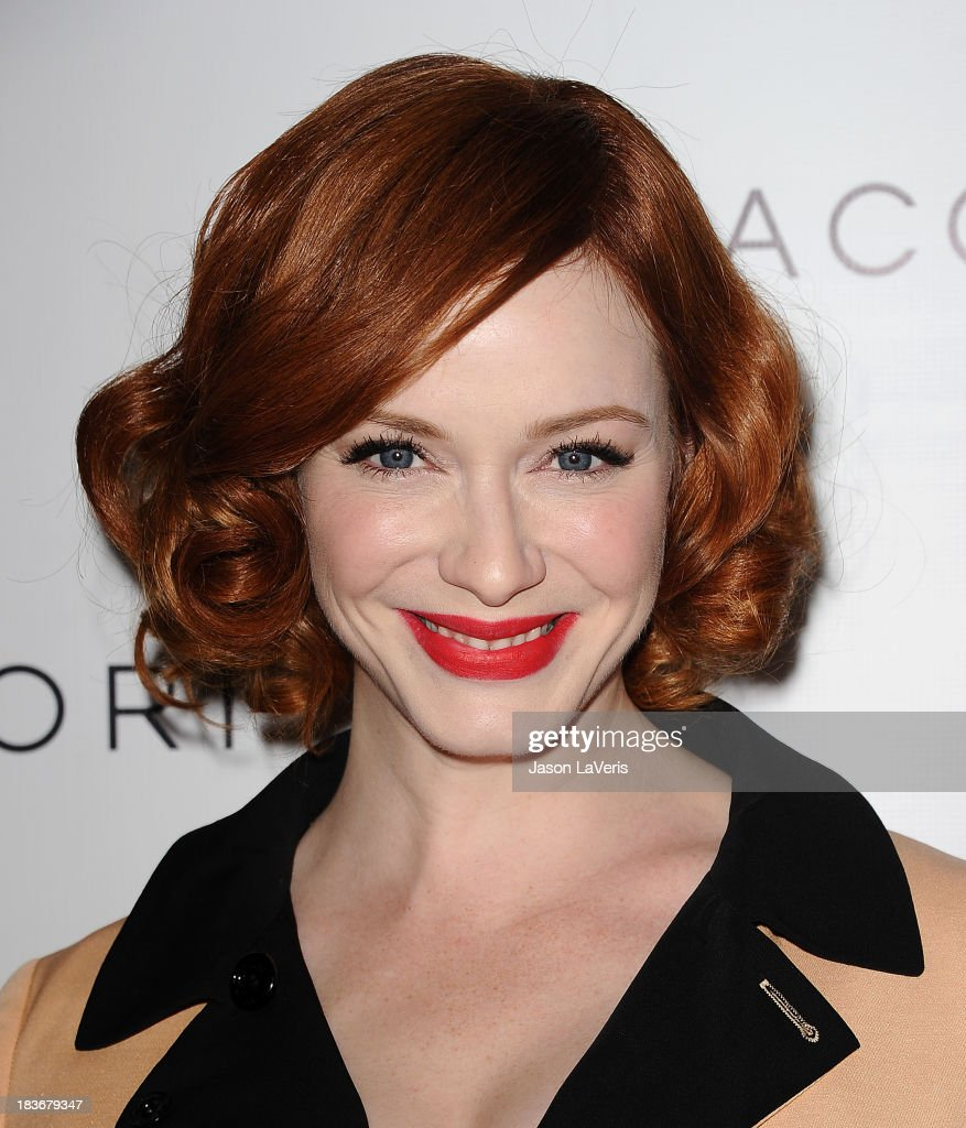 Actress <a gi-track='captionPersonalityLinkClicked' href=/galleries/search?phrase=Christina+Hendricks&family=editorial&specificpeople=2239736 ng-click='$event.stopPropagation()'>Christina Hendricks</a> attends the Club Tacori 2013 event at Greystone Manor Supperclub on October 8, 2013 in West Hollywood, California.