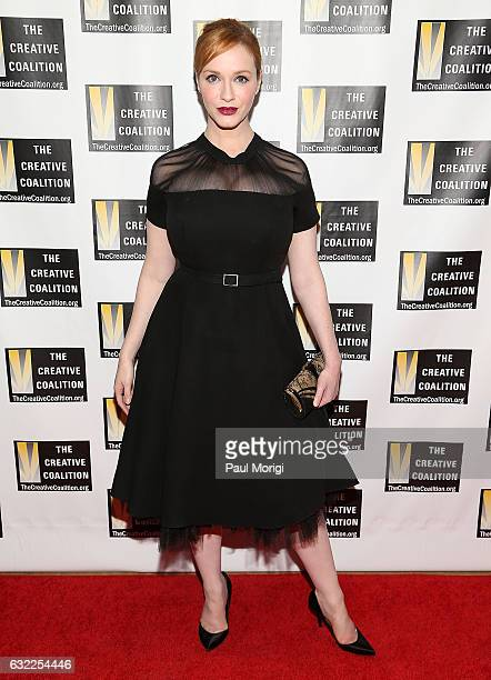 Actress Christina Hendricks attends The Creative Coalition's Inaugural Ball for the Arts at the Harman Center for the Arts on January 20 2017 in...