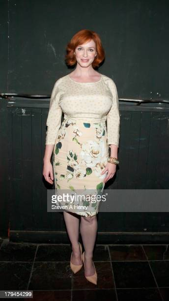 Actress Christina Hendricks attends the 'Everything Is Ours' Opening Night after party at The Emerald Pub on September 3 2013 in New York City