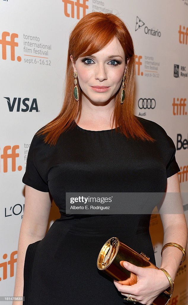 Actress <a gi-track='captionPersonalityLinkClicked' href=/galleries/search?phrase=Christina+Hendricks&family=editorial&specificpeople=2239736 ng-click='$event.stopPropagation()'>Christina Hendricks</a> attends the 'Ginger & Rosa' premiere during the 2012 Toronto International Film Festival at the The Elgin on September 7, 2012 in Toronto, Canada.