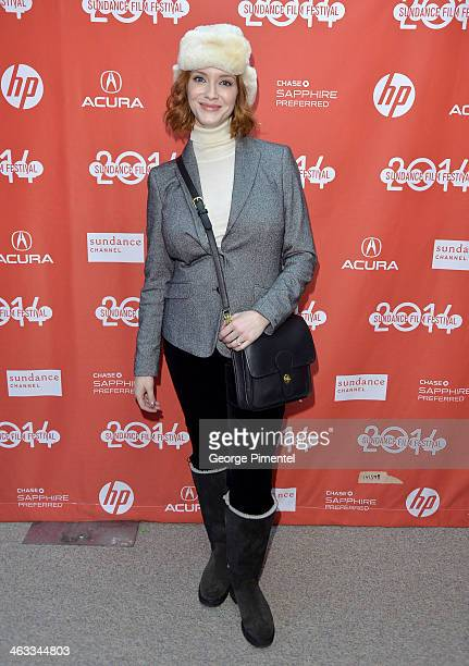 Actress Christina Hendricks attends the 'God's Pocket' premiere at Eccles Center Theatre during the 2014 Sundance Film Festival on January 17 2014 in...