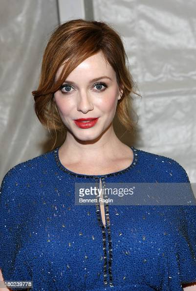 Actress Christina Hendricks attends the Jenny Packham show during Spring 2014 MercedesBenz Fashion Week at The Studio at Lincoln Center on September...