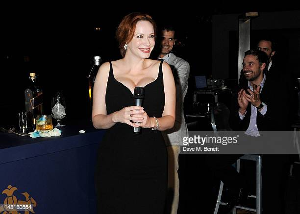 Actress Christina Hendricks attends the Johnnie Walker Blue Label Ultimate Game Changer Experience during the Diageo Reserve WORLD CLASS 2012 Global...