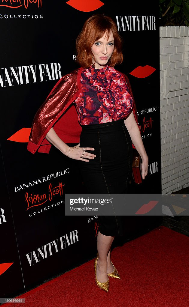 Actress Christina Hendricks attends the launch celebration of the Banana Republic L'Wren Scott Collection hosted by Banana Republic L'Wren Scott and...