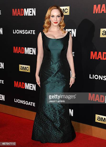 Actress Christina Hendricks attends the 'Mad Men' Black Red Ball at Dorothy Chandler Pavilion on March 25 2015 in Los Angeles California