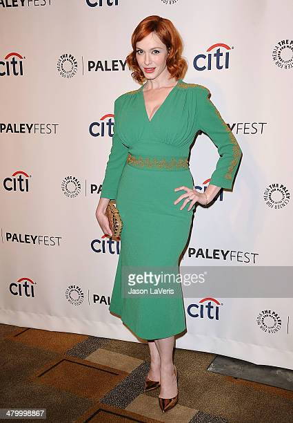Actress Christina Hendricks attends the 'Mad Men' event at the 2014 PaleyFest at Dolby Theatre on March 21 2014 in Hollywood California