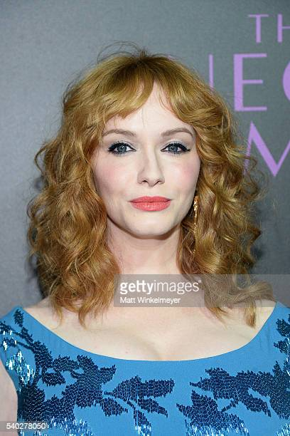 Actress Christina Hendricks attends the premiere of Amazon's 'The Neon Demon' at ArcLight Cinemas Cinerama Dome on June 14 2016 in Hollywood...