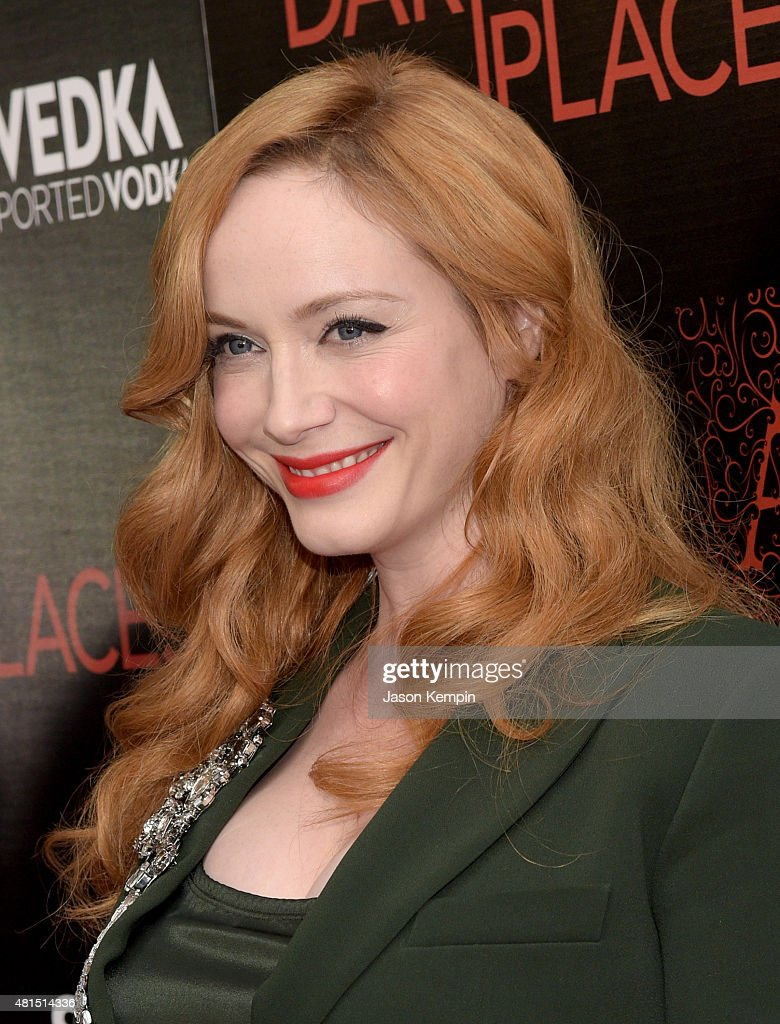 Actress Christina Hendricks attends the Premiere Of DIRECTV's 'Dark Places' at Harmony Gold Theatre on July 21, 2015 in Los Angeles, California.