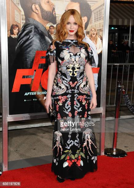Actress Christina Hendricks attends the premiere of 'Fist Fight' at Regency Village Theatre on February 13 2017 in Westwood California