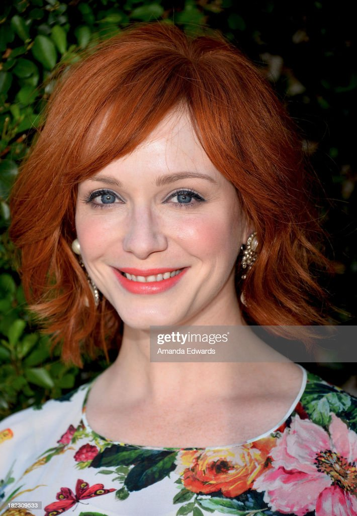 Actress <a gi-track='captionPersonalityLinkClicked' href=/galleries/search?phrase=Christina+Hendricks&family=editorial&specificpeople=2239736 ng-click='$event.stopPropagation()'>Christina Hendricks</a> attends The Rape Foundation's Annual Brunch at Greenacres on September 29, 2013 in Beverly Hills, California.