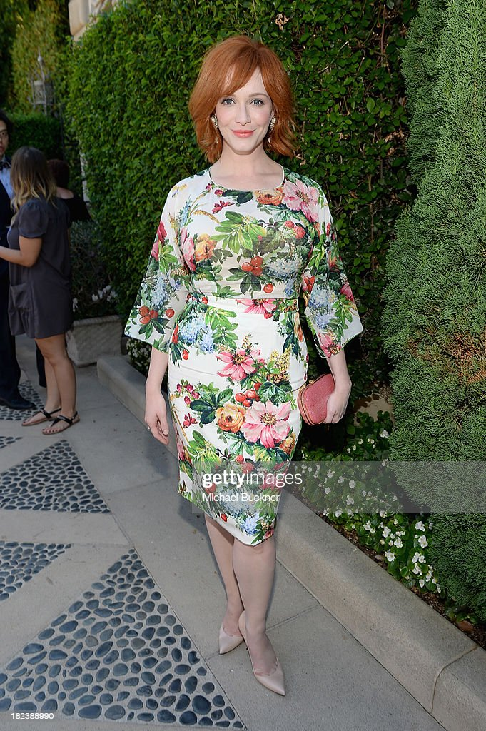 Actress Christina Hendricks attends The Rape Foundations Annual Brunch at Greenacres on September 29 2013 in Beverly Hills California