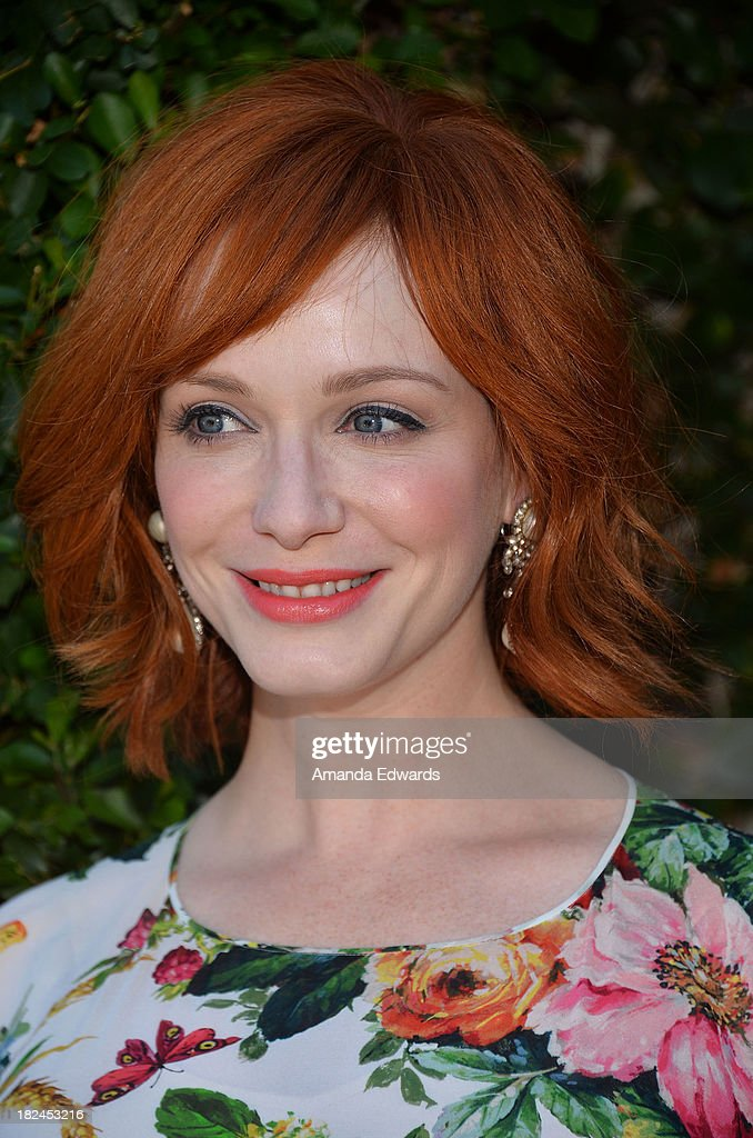 Actress Christina Hendricks attends The Rape Foundation's Annual Brunch at Greenacres on September 29, 2013 in Beverly Hills, California.