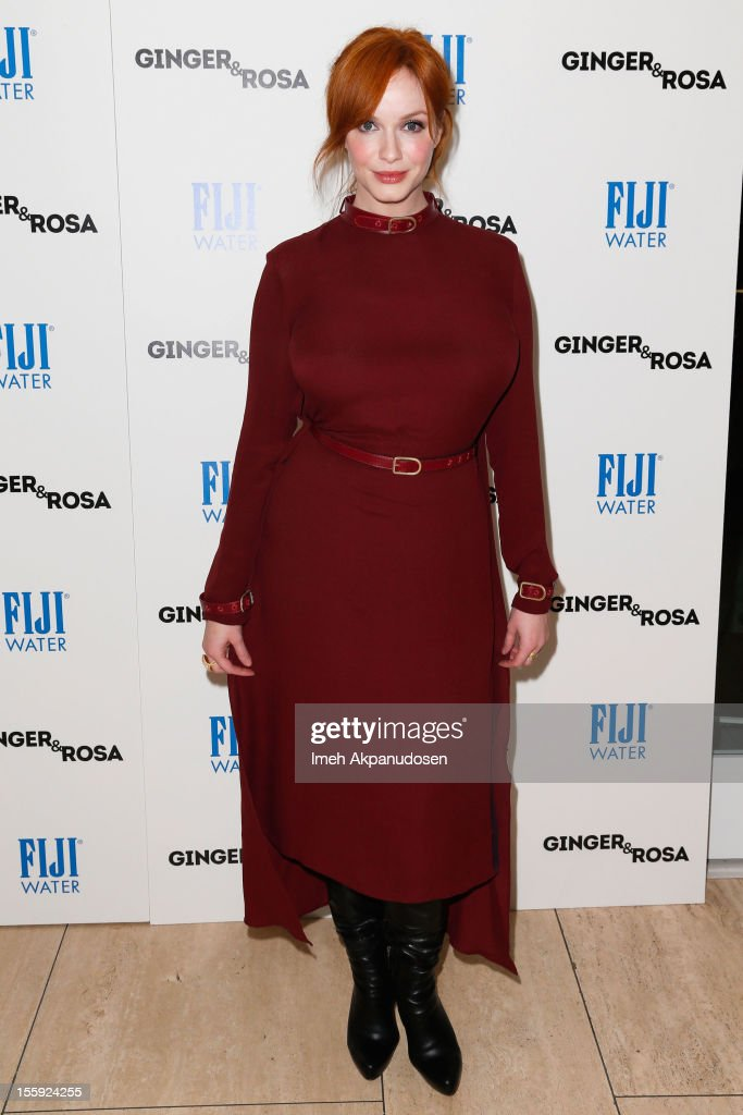 Actress Christina Hendricks attends the screening of A24 Films' 'Ginger & Rosa' at The Paley Center for Media on November 8, 2012 in Beverly Hills, California.