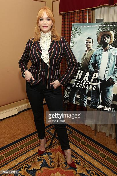 Actress Christina Hendricks attends the SundanceTV Winter TCA Press Tour 2016 for 'Hap and Leonard' at The Langham Huntington Hotel and Spa on...