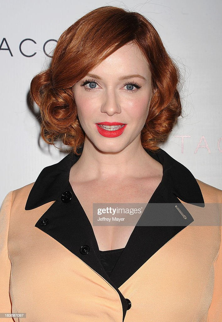 Actress <a gi-track='captionPersonalityLinkClicked' href=/galleries/search?phrase=Christina+Hendricks&family=editorial&specificpeople=2239736 ng-click='$event.stopPropagation()'>Christina Hendricks</a> attends the Tacori's Annual Club Tacori 2013 Event at Greystone Manor Supperclub on October 8, 2013 in West Hollywood,