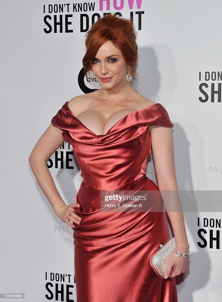 Actress Christina Hendricks attends The Weinstein Company The Cinema Society With QVC Palladium premiere of 'I Don't Know How She Does It' at AMC...