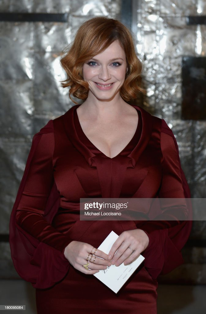 Actress Christina Hendricks attends the Zac Posen fashion show during Mercedes-Benz Fashion Week Spring 2014 at Center 548 on September 8, 2013 in New York City.