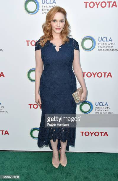 Actress Christina Hendricks attends UCLA Institute of the Environment and Sustainability celebrates Innovators For A Healthy Planet at a private...