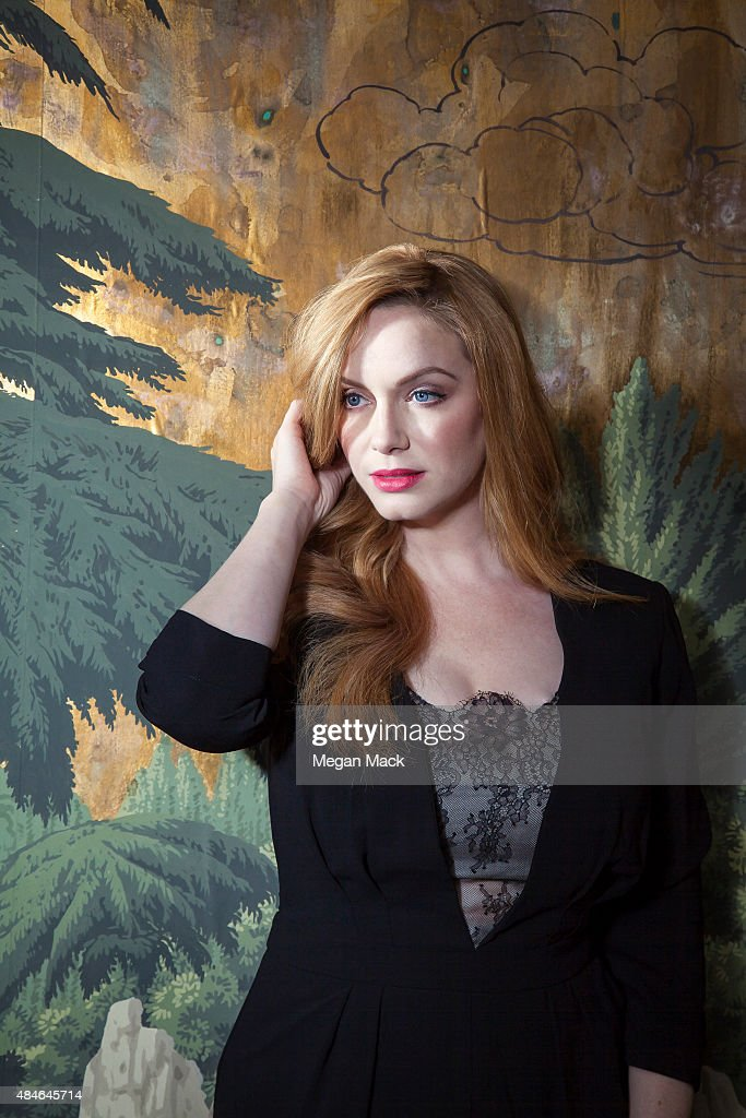 Actress Christina Hendricks is photographed for The Wrap on July 29, 2015 in Los Angeles, California.