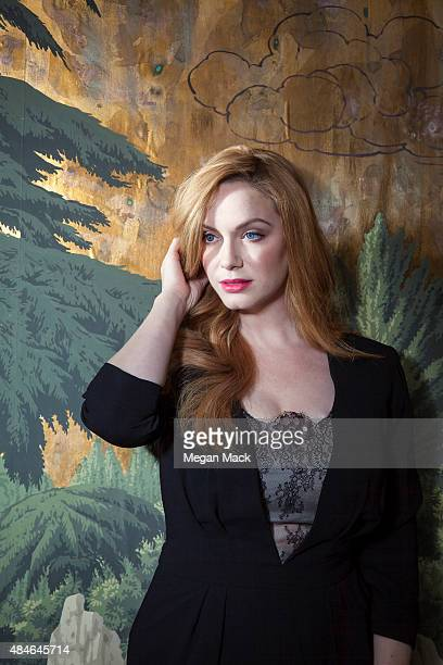 Actress Christina Hendricks is photographed for The Wrap on July 29 2015 in Los Angeles California