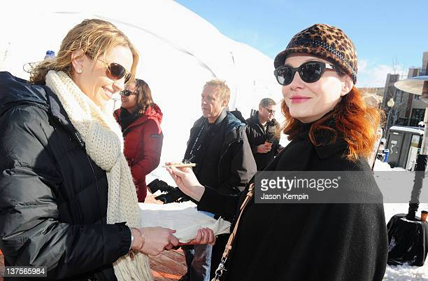 Actress Christina Hendricks joins other celebrities in McCafe Project Warm Up by Lending a Hand to Warm a Heart to benefit Ronald McDonald House...