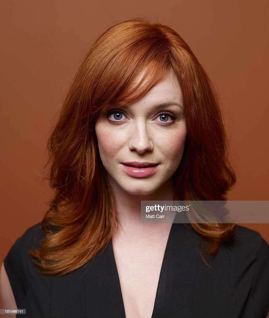 Actress <a gi-track='captionPersonalityLinkClicked' href=/galleries/search?phrase=Christina+Hendricks&family=editorial&specificpeople=2239736 ng-click='$event.stopPropagation()'>Christina Hendricks</a> of 'Ginger And Rosa' poses at the Guess Portrait Studio during 2012 Toronto International Film Festival on September 7, 2012 in Toronto, Canada.