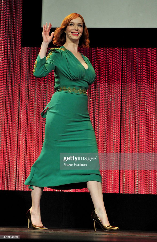 Actress <a gi-track='captionPersonalityLinkClicked' href=/galleries/search?phrase=Christina+Hendricks&family=editorial&specificpeople=2239736 ng-click='$event.stopPropagation()'>Christina Hendricks</a> on stage at The Paley Center For Media's PaleyFest 2014 Honoring 'Mad Men' at Dolby Theatre on March 21, 2014 in Hollywood, California.