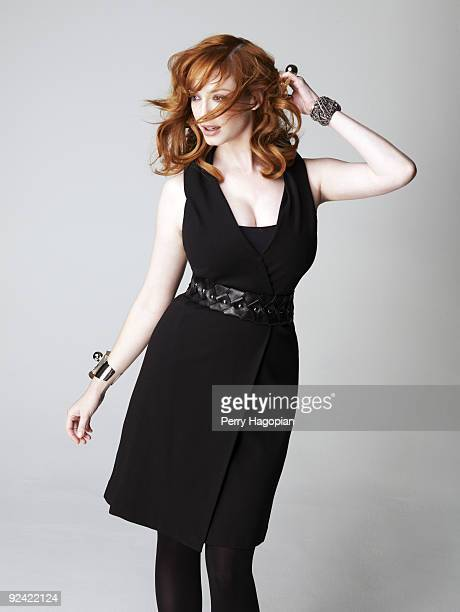 Actress Christina Hendricks poses at a portrait session for Marie Claire Magazine on July 8 2009 in New York City PUBLISHED IMAGE