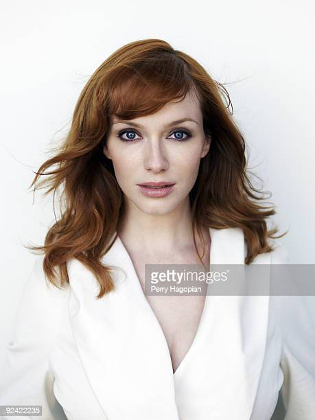 Actress Christina Hendricks poses at a portrait session for Marie Claire Magazine on July 8 2009 in New York City