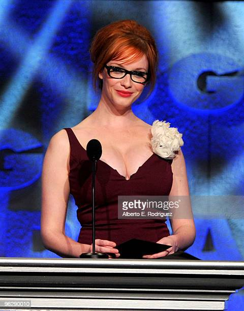 Actress Christina Hendricks presents the Comedy Series award onstage during the 62nd Annual Directors Guild Of America Awards at the Hyatt Regency...