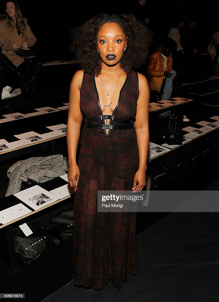 Actress Christina Jackson attends the Nicholas K Fall 2016 Fashion Show during New York Fashion Week: The Shows at The Dock, Skylight at Moynihan Station on February 11, 2016 in New York City.
