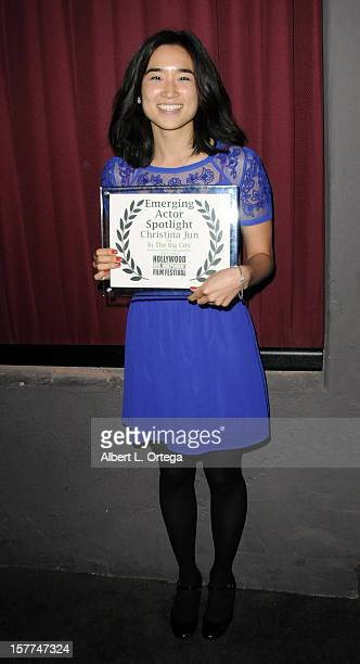 Actress Christina Jun attends the The 9th Annual Hollywood Reel Independent Film Festival held at The New Beverly Theater on December 5 2012 in Los...