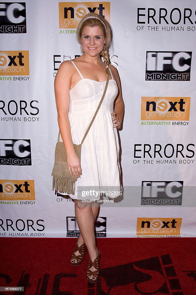Actress Christina Maria Davis attends the Los Angeles special screening of 'Errors Of The Human Body' at Arena Cinema Hollywood on April 19, 2013 in Hollywood, California.