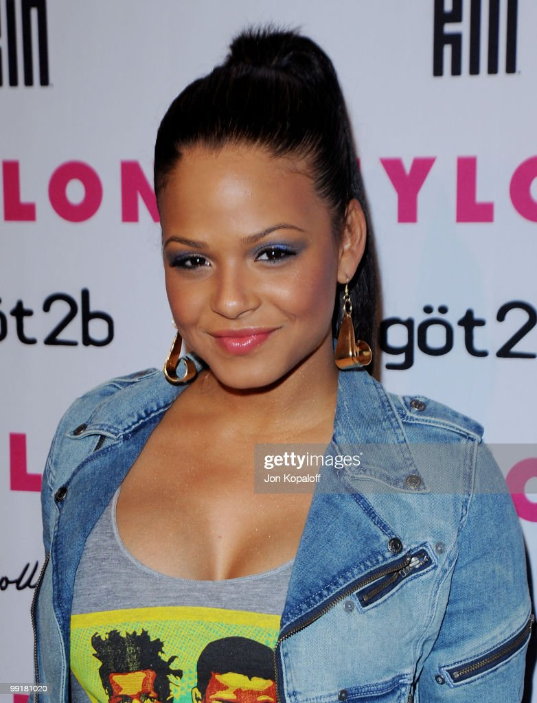 Actress Christina Milian arrives at NYLON Magazine's May Issue Young Hollywood Launch Party at The Roosevelt Hotel on May 12, 2010 in Hollywood, California.