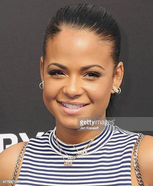 Actress Christina Milian arrives at the Los Angeles Premiere of Disney's 'Tomorrowland' at AMC Downtown Disney on May 9 2015 in Lake Buena Vista...