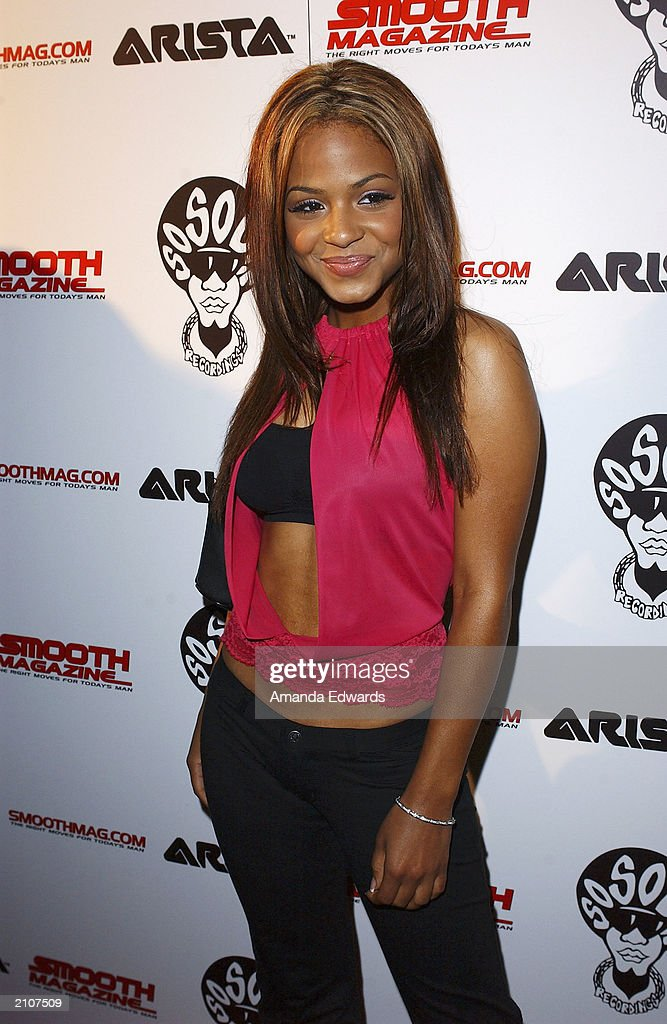 Actress Christina Milian arrives at the Smooth Pre-BET party at Club A.D. on June 23, 2003 in Los Angeles, California.