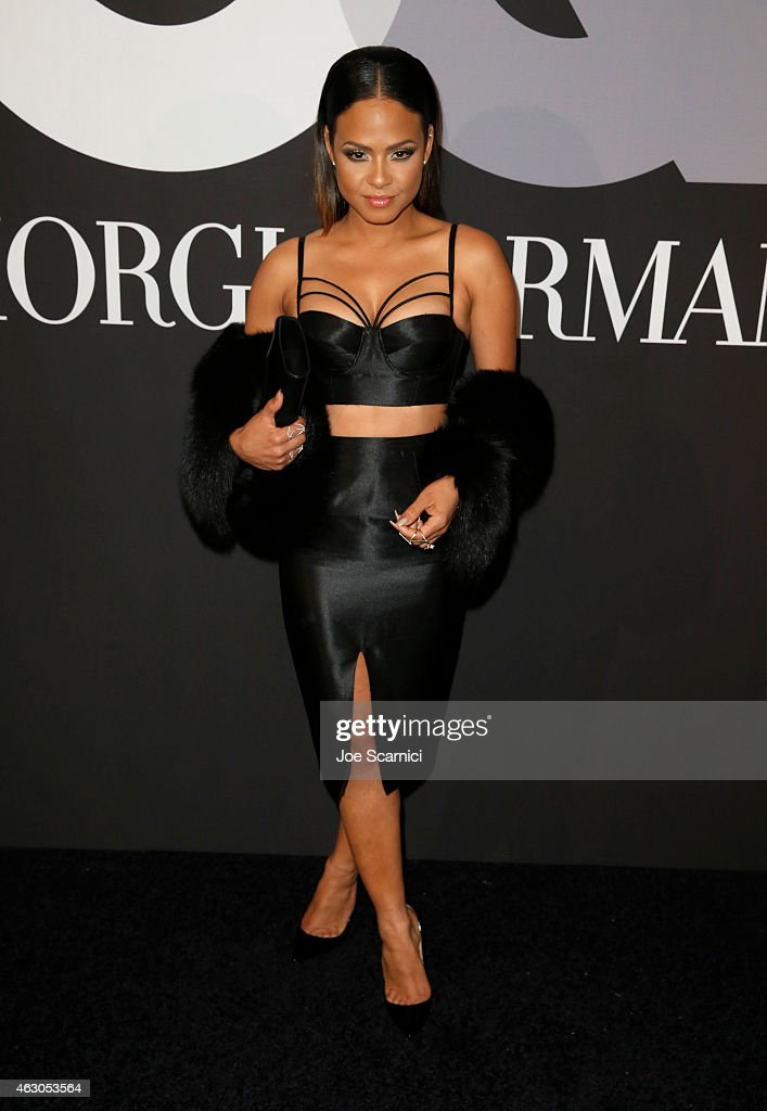 Actress Christina Milian attends GQ and Giorgio Armani Grammys After Party at Hollywood Athletic Club on February 8, 2015 in Hollywood, California.
