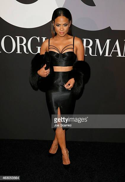 Actress Christina Milian attends GQ and Giorgio Armani Grammys After Party at Hollywood Athletic Club on February 8 2015 in Hollywood California
